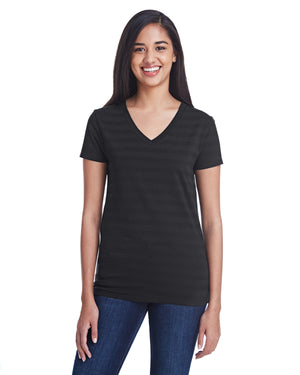 Threadfast Apparel Ladies' Invisible Stripe V-Neck T-Shirt - 252RV