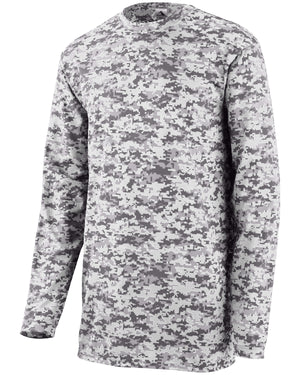 Augusta Drop Ship Youth Digi Camo Wicking Long-Sleeve T-Shirt - 2789