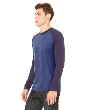 Bella + Canvas Men's Jersey Long-Sleeve Baseball T-Shirt - 3000C