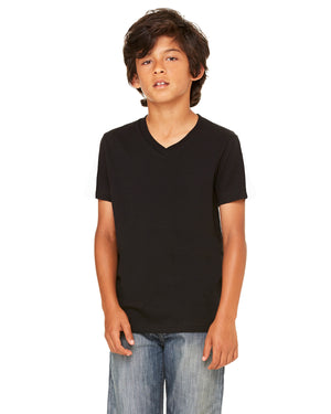Bella + Canvas Youth Jersey Short-Sleeve V-Neck T-Shirt - 3005Y