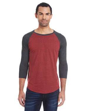 Threadfast Apparel Unisex Triblend 3/4-Sleeve Raglan - 302G