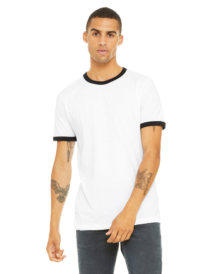 Bella + Canvas Men's Jersey Short-Sleeve Ringer T-Shirt - 3055C