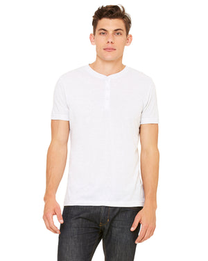 Bella + Canvas Men's Triblend Short-Sleeve Henley - 3125