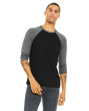Bella + Canvas Unisex 3/4-Sleeve Baseball T-Shirt - 3200
