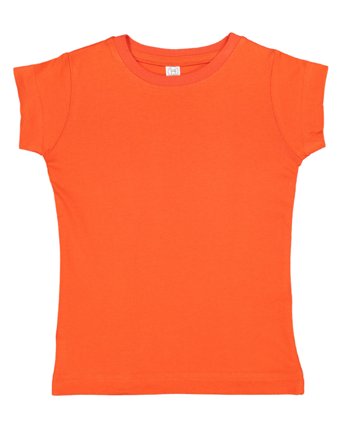 Rabbit Skins Toddler Girls' Fine Jersey T-Shirt - 3316
