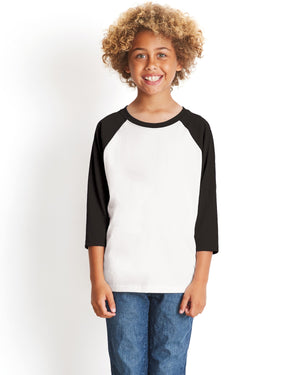Next Level Youth CVC 3/4-Sleeve Raglan - 3352