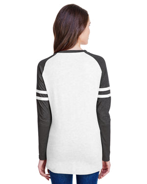 LAT Ladies' Gameday Mash-Up Long Sleeve Fine Jersey T-Shirt - 3534
