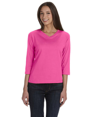 LAT Ladies' Premium Jersey 3/4-Sleeve T-Shirt - 3577
