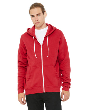 Bella + Canvas Unisex Poly-Cotton Sponge Fleece Full-Zip Hooded Sweatshirt - 3739