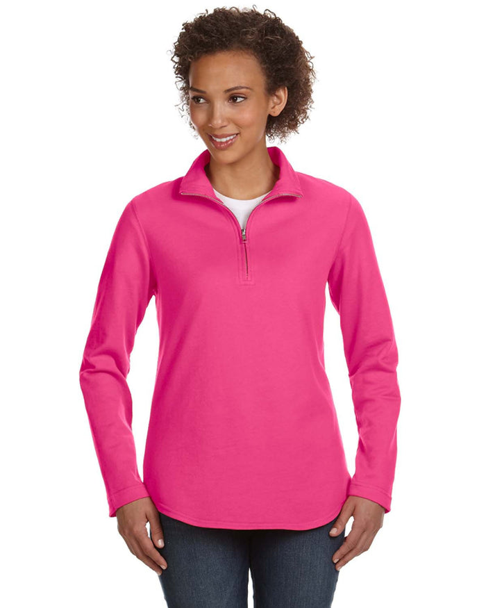 LAT Ladies' French Terry 1/4-Zip Pullover - 3764
