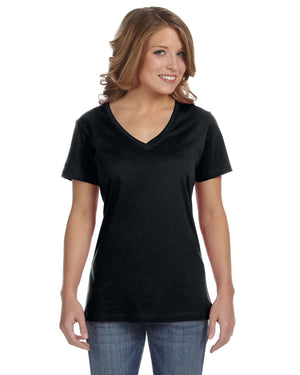 Anvil Ladies' Featherweight V-Neck T-Shirt - 392A
