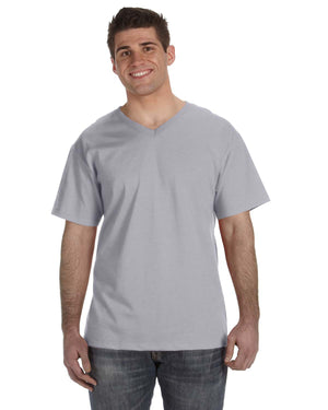 Fruit of the Loom Adult 5 oz. HD Cotton™ V-Neck T-Shirt - 39VR