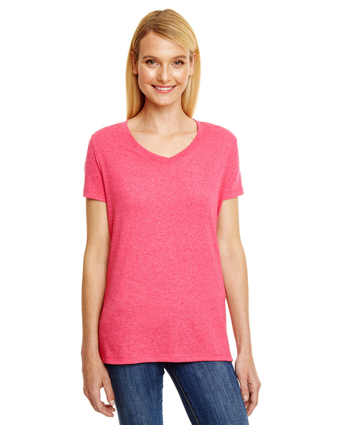 Hanes Ladies' X-Temp® Triblend V-Neck T-Shirt - 42VT
