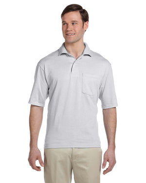 Jerzees Adult 5.6 oz. SpotShield™ Pocket Jersey Polo - 436P