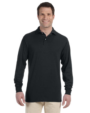 Jerzees Adult 5.6 oz. SpotShield™ Long-Sleeve Jersey Polo - 437ML