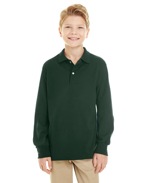 Jerzees Youth 5.6 oz. SpotShield™ Long-Sleeve Jersey Polo - 437YL