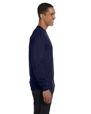 Hanes Men's 5.2 oz. ComfortSoft® Cotton Long-Sleeve T-Shirt - 5286