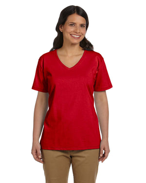Hanes Ladies' 5.2 oz. Tagless® V-Neck T-Shirt - 5780