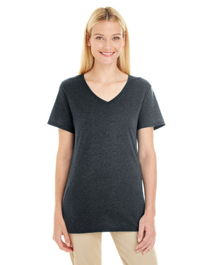 Jerzees Ladies' 4.5 oz. TRI-BLEND V-Neck T-Shirt - 601WVR