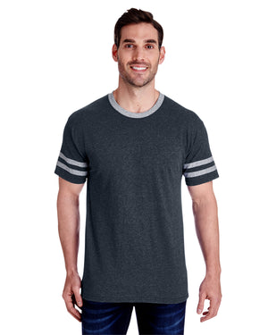 Jerzees Adult 4.5 oz. TRI-BLEND Varsity Ringer T-Shirt - 602MR