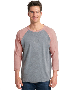 Next Level Unisex Triblend 3/4-Sleeve Raglan - 6051