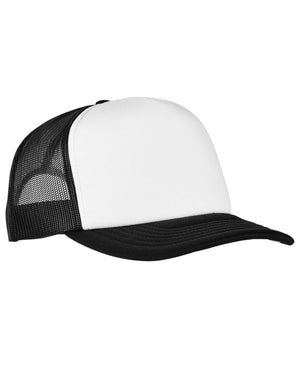 Yupoong Adult Classics Curved Visor Foam Trucker Cap - White Front Panel - 6320W