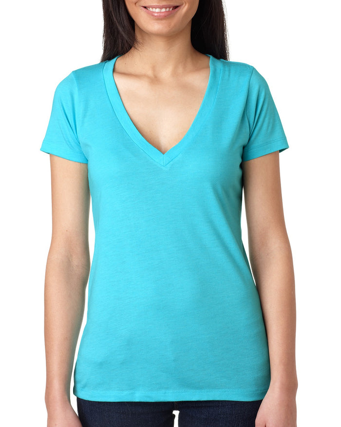 Next Level Ladies' Triblend Deep V - 6740