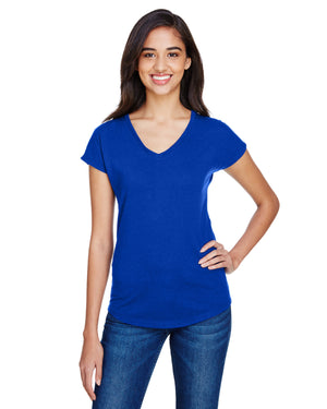 Anvil Ladies' Triblend V-Neck T-Shirt - 6750VL