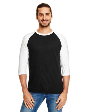 Anvil Adult Triblend 3/4-Sleeve Raglan T-Shirt - 6755