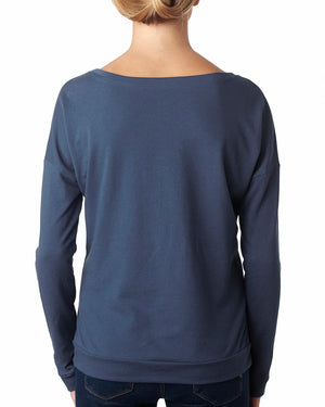 Next Level Ladies' French Terry Long-Sleeve Scoop - 6931