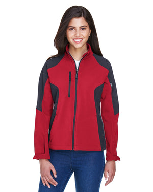 North End Ladies' Compass Colorblock Three-Layer Fleece Bonded Soft Shell Jacket - 78077