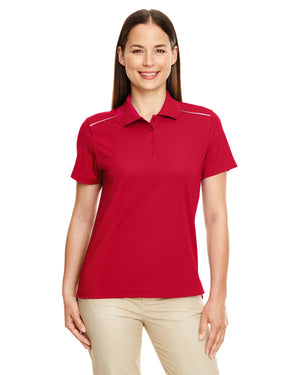 Core 365 Ladies' Radiant Performance Piqué Polo with Reflective Piping - 78181R