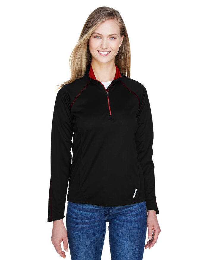 North End Ladies' Radar Quarter-Zip Performance Long-Sleeve Top - 78187
