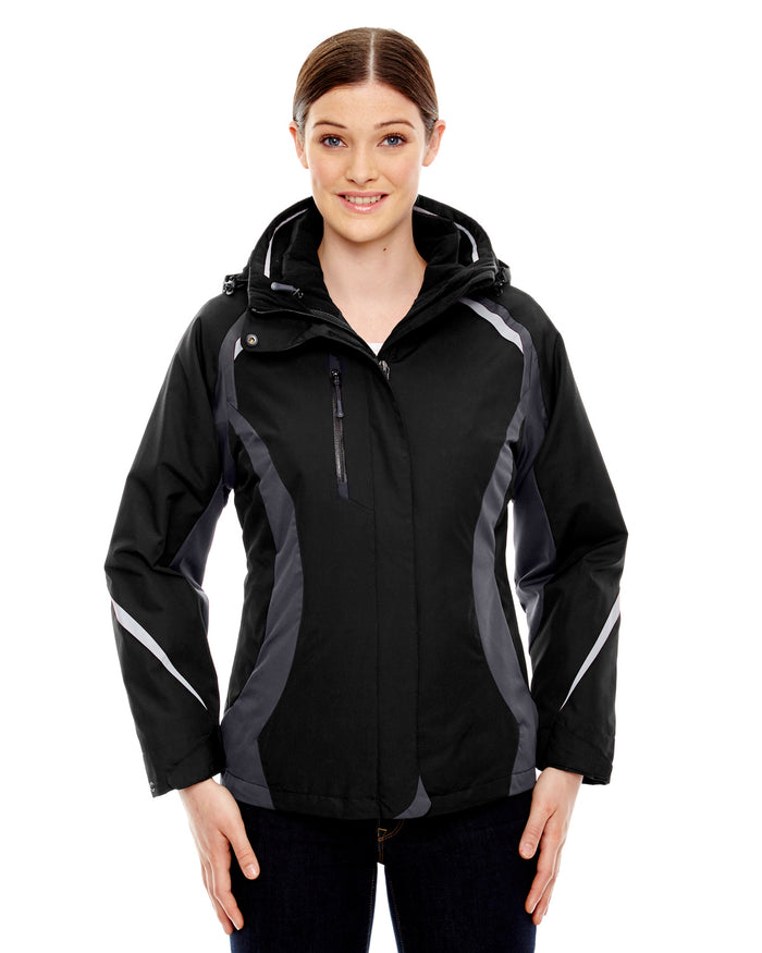 North End Ladies' Height 3-in-1 Jacket with Insulated Liner - 78195
