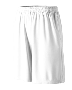 Augusta Drop Ship Longer Length Wicking Short with Pockets - 803
