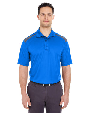 UltraClub Adult Cool & Dry Two-Tone Mesh Piqué Polo - 8215