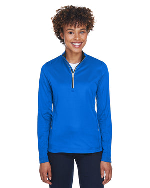 UltraClub Ladies' Cool & Dry Sport Quarter-Zip Pullover - 8230L