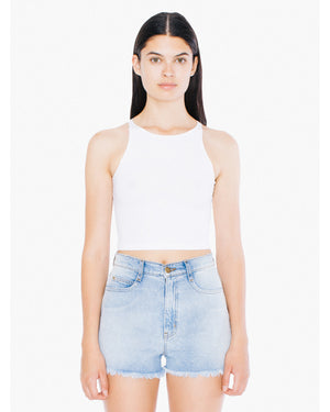 American Apparel Ladies' Cotton Spandex Sleeveless Crop Top - 8369W