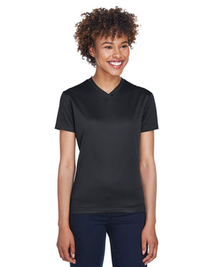 UltraClub Ladies' Cool & Dry Sport V-Neck T-Shirt - 8400L