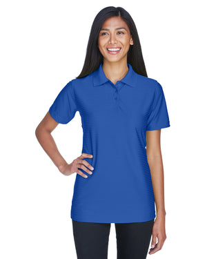 UltraClub Ladies' Cool & Dry Elite Tonal Stripe Performance Polo - 8413L