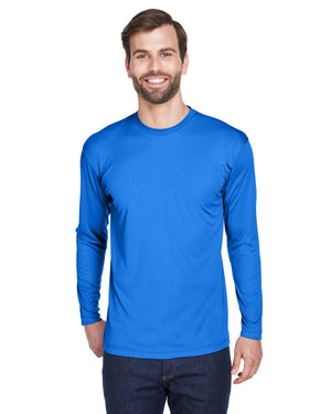 UltraClub Adult Cool & Dry Sport Long-Sleeve Performance Interlock T-Shirt - 8422