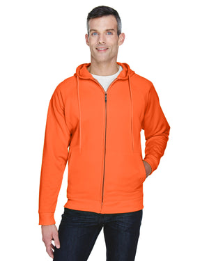 UltraClub Adult Rugged Wear Thermal-Lined Full-Zip Hooded Fleece - 8463
