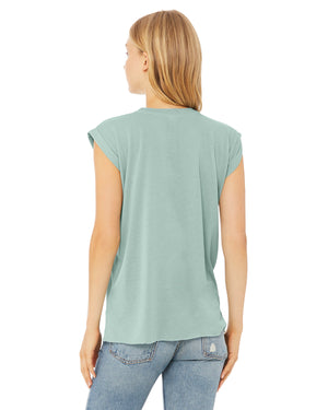 Bella + Canvas Ladies' Flowy Muscle T-Shirt with Rolled Cuff - 8804