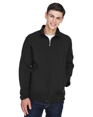 North End Men's Three-Layer Fleece Bonded Performance Soft Shell Jacket - 88099