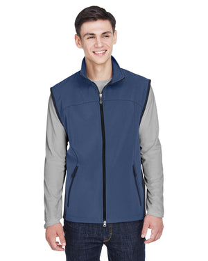 North End Men's Three-Layer Light Bonded Performance Soft Shell Vest - 88127