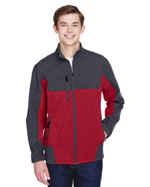 North End Men's Compass Colorblock Three-Layer Fleece Bonded Soft Shell Jacket - 88156