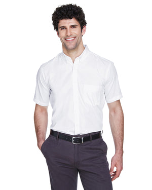 Core 365 Men's Tall Optimum Short-Sleeve Twill Shirt - 88194T