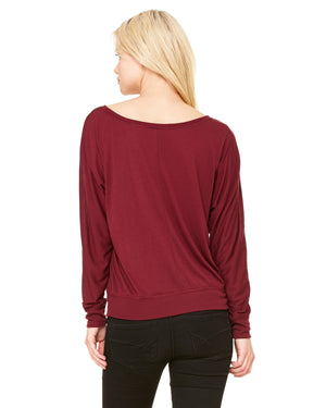 Bella + Canvas Ladies' Flowy Long-Sleeve Off Shoulder T-Shirt - 8850