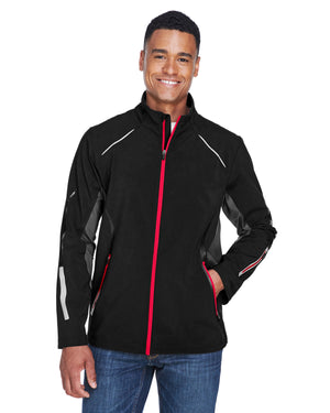 North End Men's Pursuit Three-Layer Light Bonded Hybrid Soft Shell Jacket with Laser Perforation - 88678