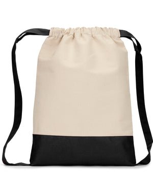 Liberty Bags Cape Cod Cotton Drawstring Backpack - 8876
